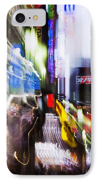 Tokyo Color Blurs IPhone Case by Bill Brennan - Printscapes