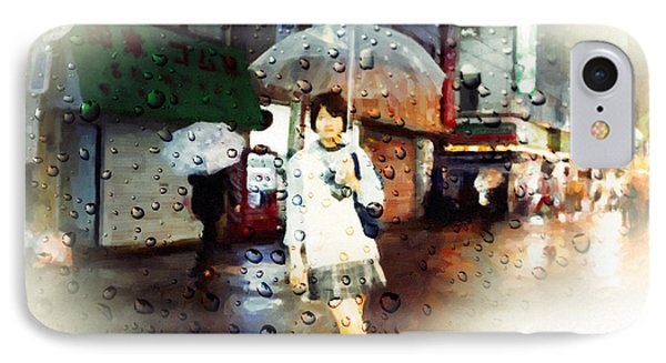 IPhone Case featuring the painting Rainytokyo Night by Chris Armytage