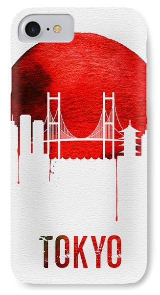 Tokyo Skyline Red IPhone Case