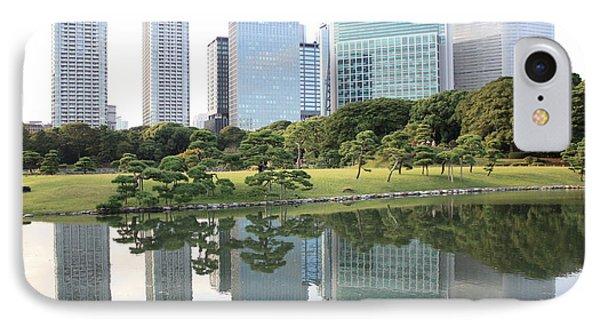 Tokyo Skyline Reflection IPhone 7 Case by Carol Groenen