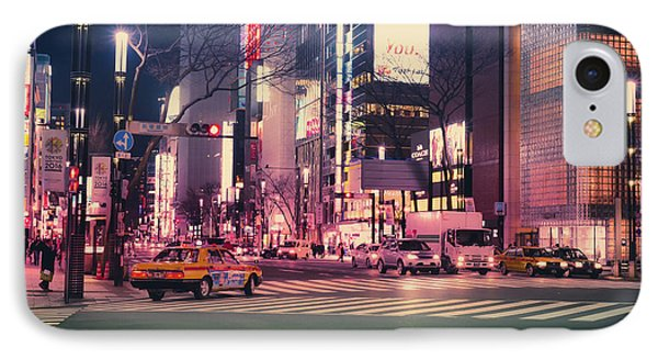 Tokyo Street At Night, Japan 2 IPhone Case