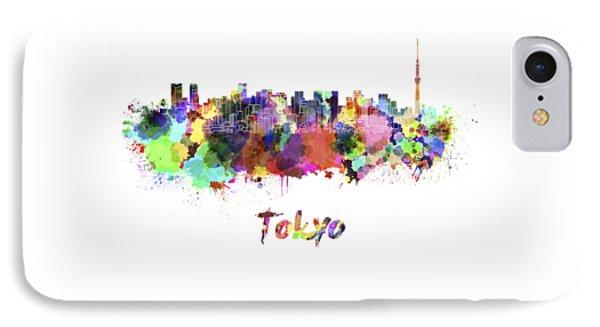 Tokyo V2 Skyline In Watercolor IPhone 7 Case