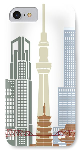 Tokyo V2 Skyline Poster IPhone Case by Pablo Romero