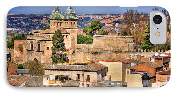 Toledo Town View Phone Case by Joan Carroll