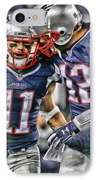 Tom Brady Art 1 IPhone Case by Joe Hamilton