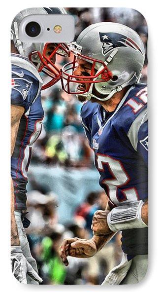 Tom Brady Art 4 IPhone Case by Joe Hamilton