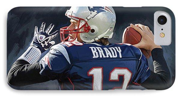 Tom Brady Artwork IPhone Case by Sheraz A