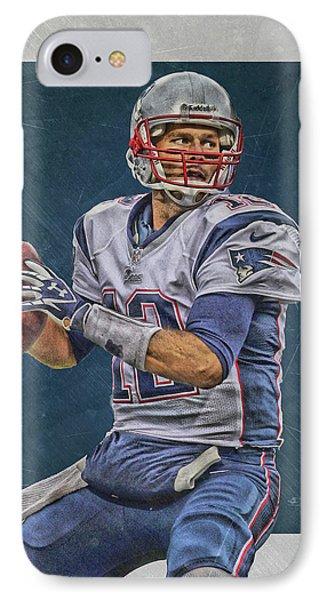 Tom Brady New England Patriots Art IPhone Case