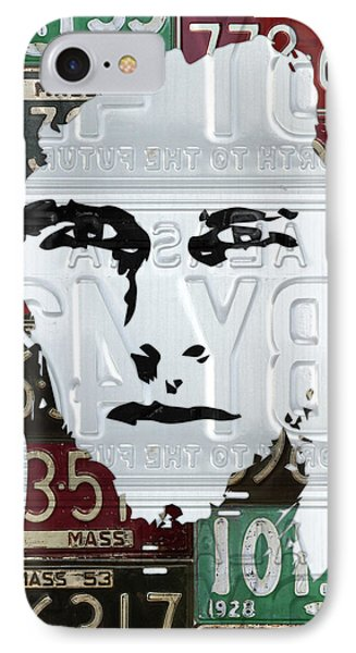 Tom Brady New England Patriots Massachusetts Recycled Vintage License Plate Portrait Original IPhone Case