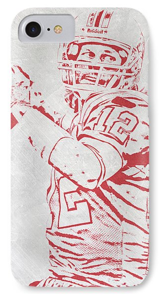 Tom Brady New England Patriots Pixel Art 4 IPhone Case