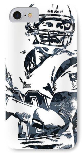 Tom Brady New England Patriots Pixel Art 7 IPhone Case