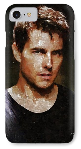 Tom Cruise, Hollywood Legend By Mary Bassett IPhone Case