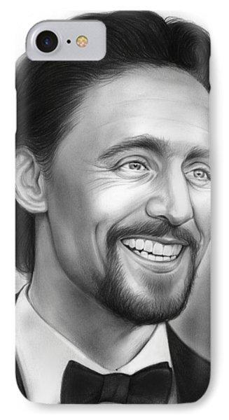 Tom Hiddleston IPhone Case by Greg Joens