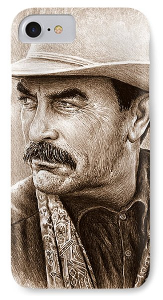 Tom Selleck The Western Collection IPhone Case by Andrew Read