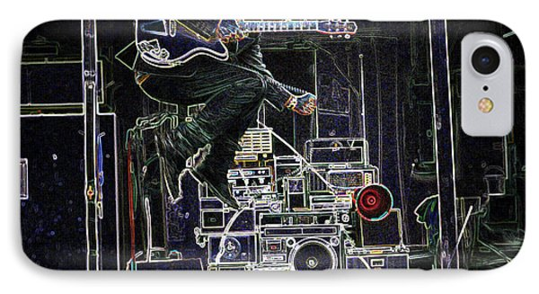 Tom Waits Jamming IPhone Case by Charles Shoup