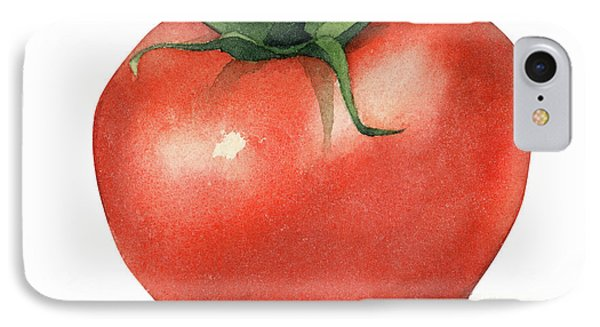 Tomato Watercolor IPhone Case by Taylan Apukovska