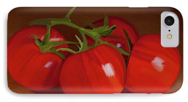 Tomatoes 01 IPhone Case by Wally Hampton