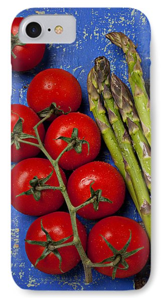 Tomatoes And Asparagus  IPhone Case by Garry Gay