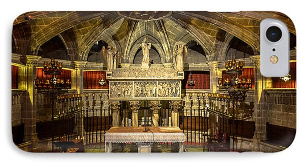 Tomb Of Saint Eulalia In The Crypt Of Barcelona Cathedral IPhone Case