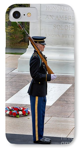 Tomb Of The Unknowns Guard IPhone Case by Jerry Fornarotto