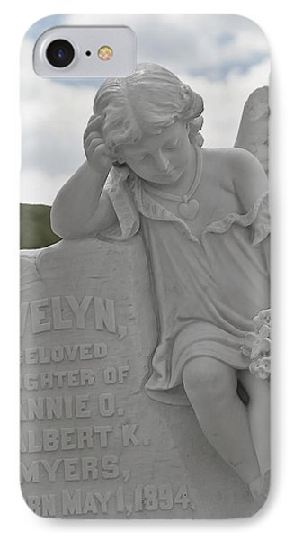 Tombstone Angel For An Angel Phone Case by Christine Till