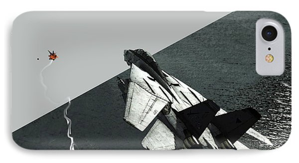 IPhone Case featuring the digital art Tomcat Kill by Walter Chamberlain