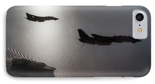 IPhone Case featuring the photograph Tomcat Silhouette  by Peter Chilelli