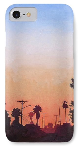 IPhone Case featuring the painting Tonal Hollywood by Andrew Danielsen
