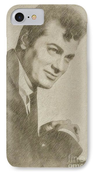Tony Curtis Vintage Hollywood Actor IPhone Case by Frank Falcon