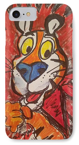 Tony The Tiger IPhone Case by Geraldine Myszenski