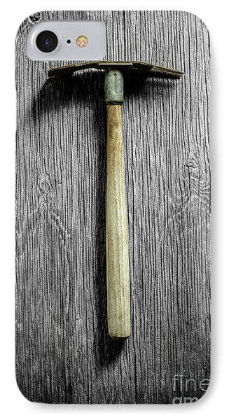 IPhone Case featuring the photograph Tools On Wood 16 On Bw by YoPedro