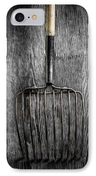 IPhone Case featuring the photograph Tools On Wood 25 On Bw by YoPedro