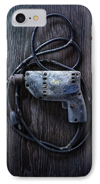 Tools On Wood 28 IPhone Case by YoPedro
