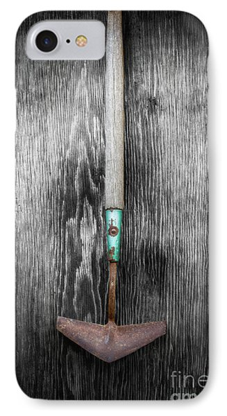 IPhone Case featuring the photograph Tools On Wood 5 On Bw by YoPedro