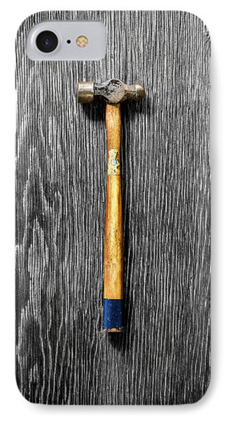 IPhone Case featuring the photograph Tools On Wood 51 On Bw by YoPedro