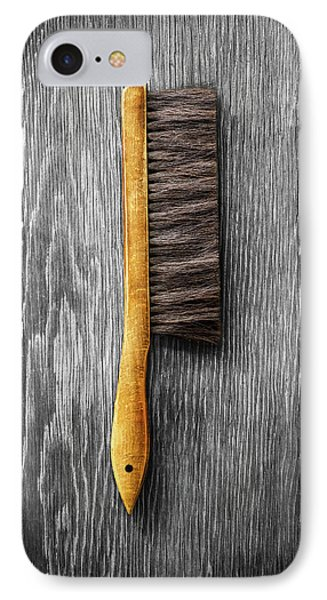 IPhone Case featuring the photograph Tools On Wood 52 On Bw by YoPedro