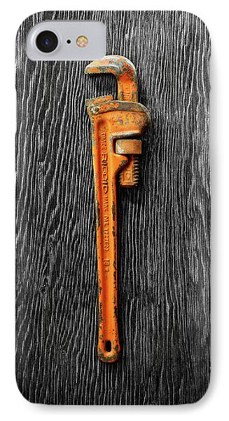 IPhone Case featuring the photograph Tools On Wood 60 On Bw by YoPedro