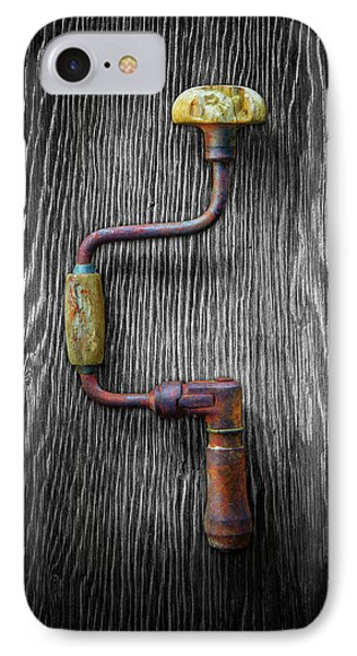 IPhone Case featuring the photograph Tools On Wood 61 On Bw by YoPedro