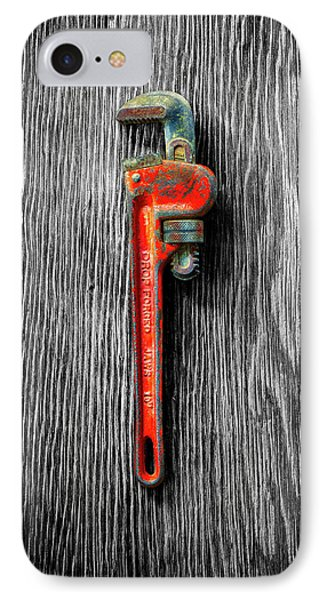 IPhone Case featuring the photograph Tools On Wood 62 On Bw by YoPedro