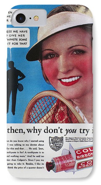 Toothpaste Ad, 1932 Phone Case by Granger