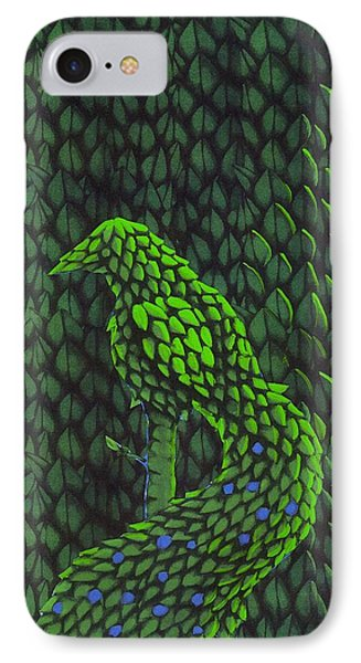 Topiary Peacock IPhone Case by Donna Huntriss