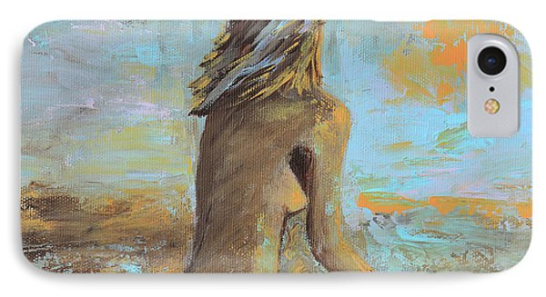 Topless Beach IPhone Case by Donna Blackhall