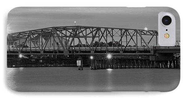 Topsail Island Bridge B  W IPhone Case
