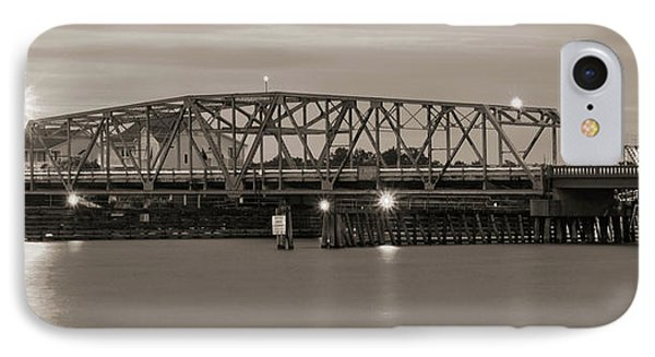 Topsail Island Bridge Sepia IPhone Case