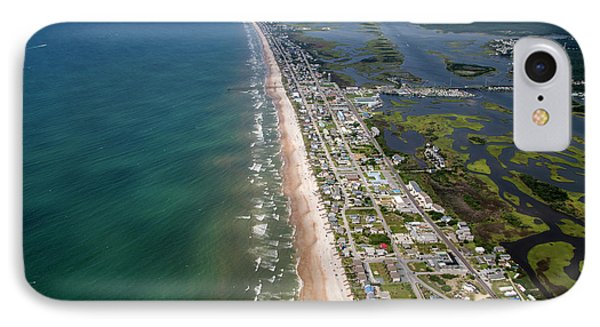 Topsail Island Middle Heart IPhone Case by Betsy Knapp
