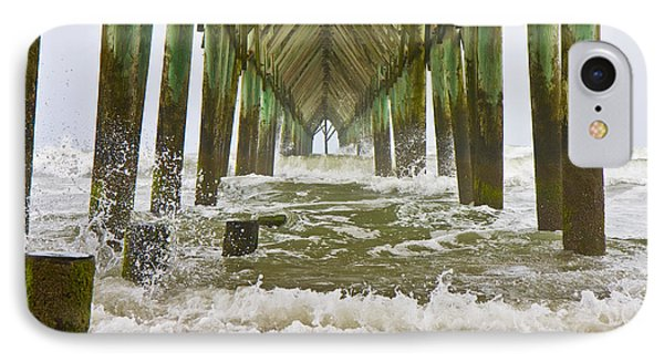 Topsail Island Pier IPhone Case by Betsy Knapp