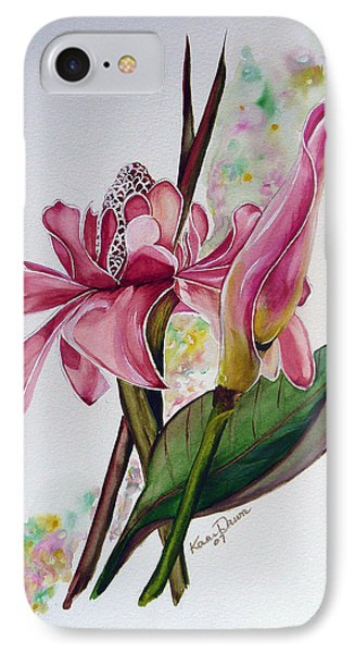 Torch Ginger  Lily Phone Case by Karin  Dawn Kelshall- Best