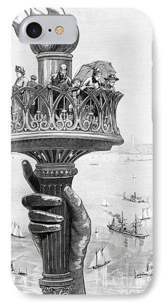 Torch Of Statue Of Liberty, 1885 IPhone Case by Science Source