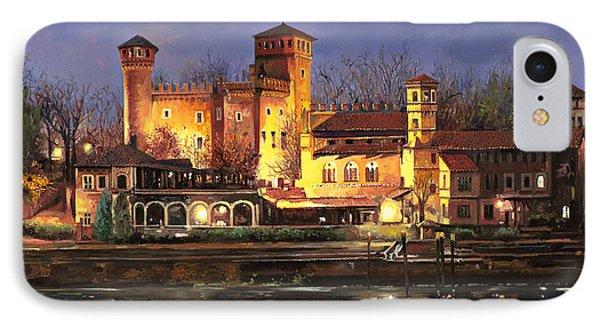 Torino-il Borgo Medioevale Di Notte IPhone Case by Guido Borelli