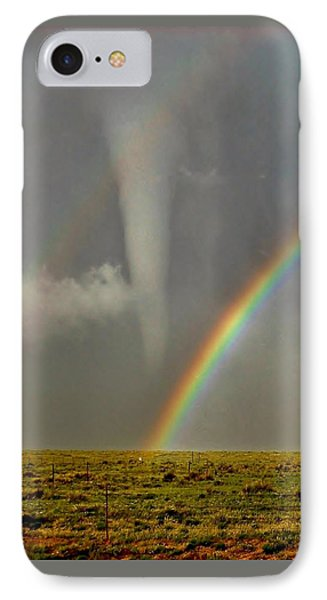 Tornado And The Rainbow II  IPhone Case